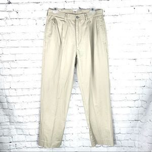 EUC - Faconnable Md.Beige Khaki Cotton Chino Pants